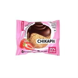 Протеиновое печенье Chikalab Клубника в шоколаде, 60 г - фото 11777