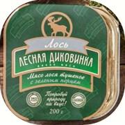 Лесная Диковинка Мясо лося тушеное с зеленым перцем, 200 гр