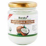 Baraka Масло кокоса нерафинированное Extra Virgin Органик, 200 мл
