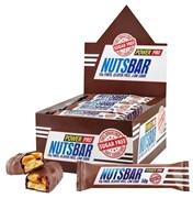Батончик NutsBar с жареным арахисом и карамелью без сахара Power Pro, 20 штук