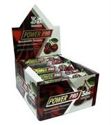 Батончик мультибелковый глазированный со вкусом и кусочками вишни Power Pro, упаковка 20 штук