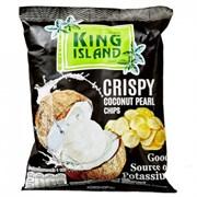 Кокосовые чипсы KING ISLAND из сердцевины пророщенного кокоса COCONUT PEARL, 40г