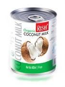 Органическое кокосовое молоко с пониженной жирностью Rish, 400мл