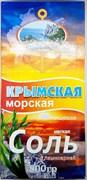 Соль крымская морская пищевая, мелкая, с ламинарией, 800г
